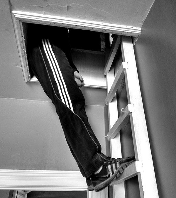 escape the old post attic hatch
